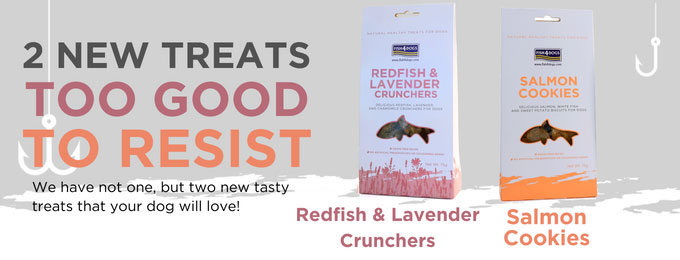 Salmon Cookie and Redfish Cruncher Treats